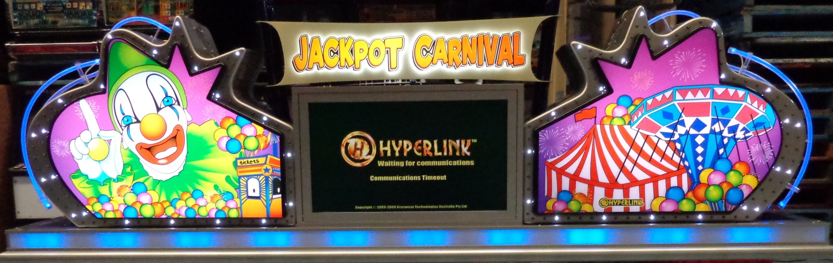 Jackpot Carnival Sign